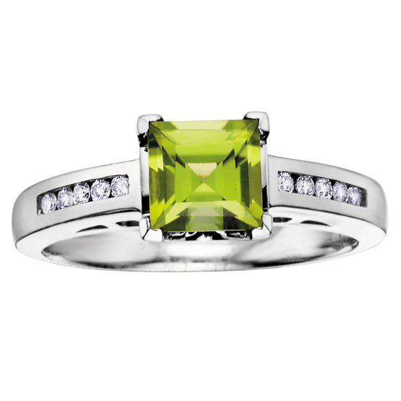 Peridot & Diamond Ring 10KT 209-1897