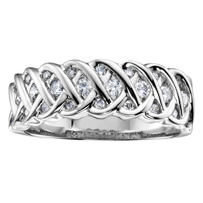 Diamond Band 10KT 26=0.36cts. T.W. Stock # 115 W2886
