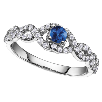 Sapphire & Diamond Ring 14KT 151 W2786