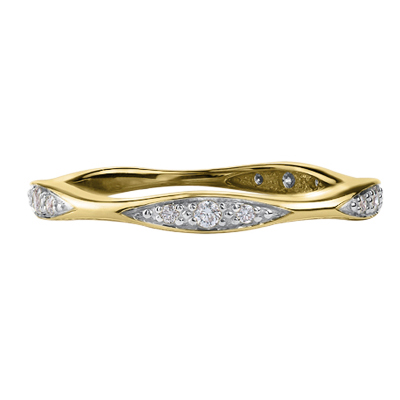 Diamond Band 10KT Yellow Gold Stock # 204-6084