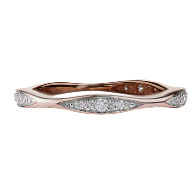 Diamond Band 10KT Rose Gold Stock # 204-6087