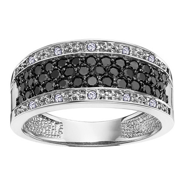 Black & White Diamond Ring 14KT Stock # 204 – 2236