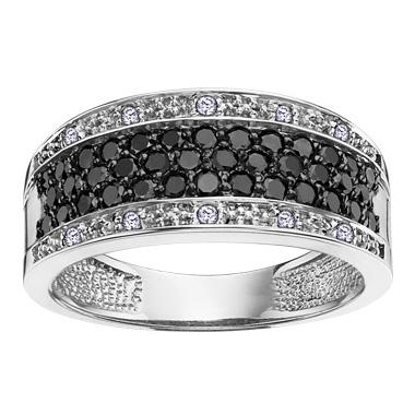 Black & White Diamond Ring 14KT Stock # 204 – 2236