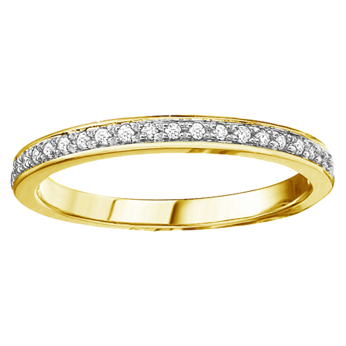 Diamond Band 10KT Yellow Gold Stock # 204-5344