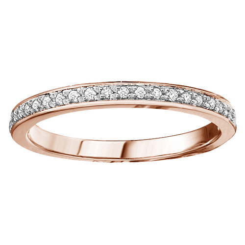 Diamond Band 10KT Rose Gold Stock # 204-5347