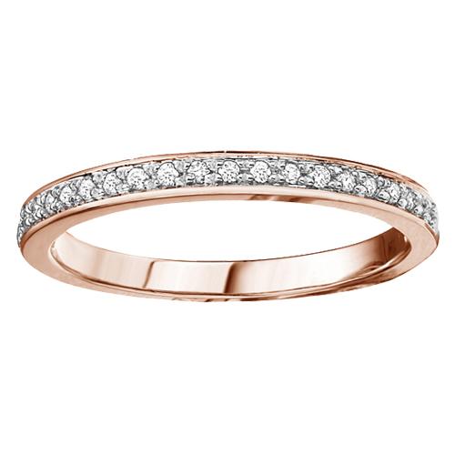 Diamond Band 10KT Rose Gold Stock # 204-5347