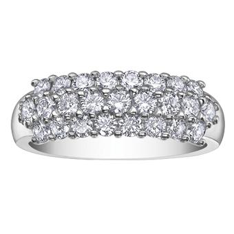 Canadian Diamond Band 18KT 1.16 T.W. Stock # 115 W2885