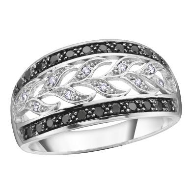 Black & White Diamond Ring 10KT Stock # 115 W3098