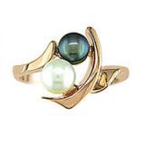 Cultured Pearl & Black Hemitite 10KT 260-2828