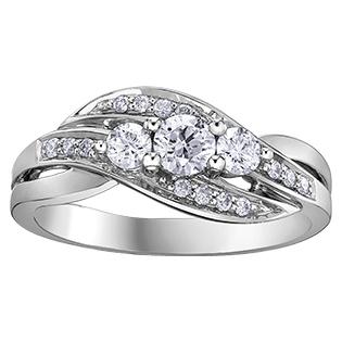 Diamond Ring 14KT 0.50ct T.W. Stock # 113 W3174