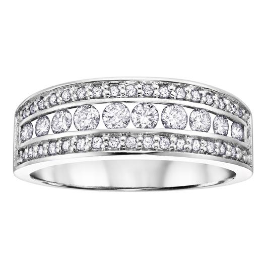 Diamond Band 14KT 0.50cts. T.W. Stock # 115 W3175