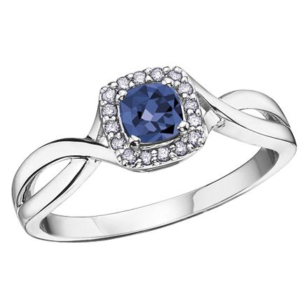 Sapphire & Diamond Ring 10KT Stock # 210-533