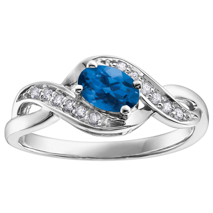 Sapphire & Diamond Ring 10KT Stock # 210-592