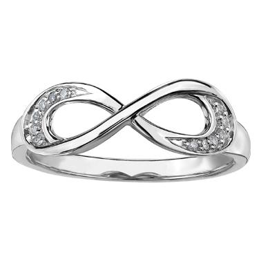 Diamond Infinity Ring 10KT 204-2761