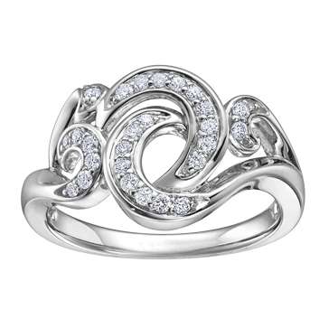 Diamond Ring 10KT 26 =.25 115 W3096