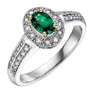 Emerald & Diamond Ring 14KT 153 W2521