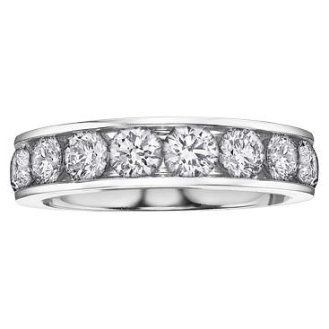 Channel set Diamond Band 14KT 10 = 0.25 T.W. Stock # 115 W3094