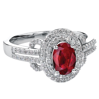 Ruby & Diamond 10KT 152 W3095