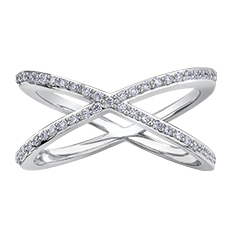 Diamond Ring 10KT 45=0.225cts T.W. Stock # 115 W3202