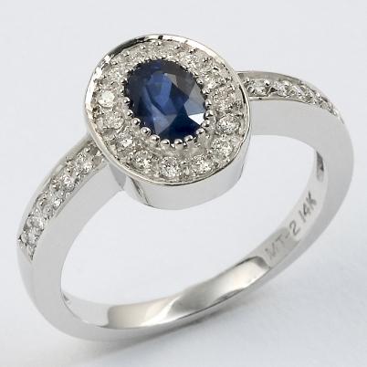Sapphire & Diamond 14KT 151 W3105
